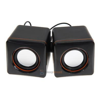 USB 3.5mm Stereo Mini Speaker Subwoofer for Desktop Laptop Notebook Tablet 5V