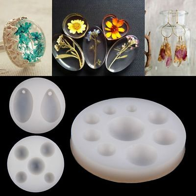 Silicone Pendant Mold Making Jewelry Resin Casting Mould Craft DIY Tool AU