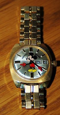 Mickey Mouse Watch Gold Filled Helbros , Must Have For Your Collection