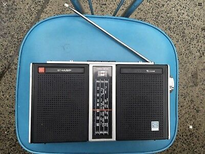 Retro Sharp Portable Radio 10 Transistor Made In Japan