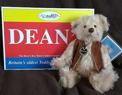 "Beautiful Dean's Mohair Teddy Bear - Apricot Pie - 11"" - 65/300 New With Tags"