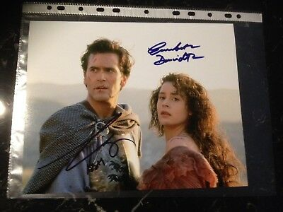 Bruce Campbell Embeth Davidtz Signed 8X10 Army Of Darkness Photo With Coa