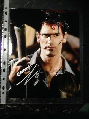 Bruce Campbell Signed 8X10 Evil Dead 2 Photo With Coa