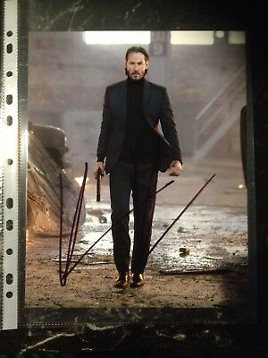 Keanu Reeves Signed 8X10 John Wick Photo With Coa