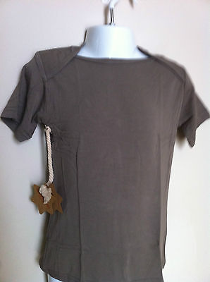Bamboo Baby Short Sleeve Tee Mushroom/taupe 24  Months Old