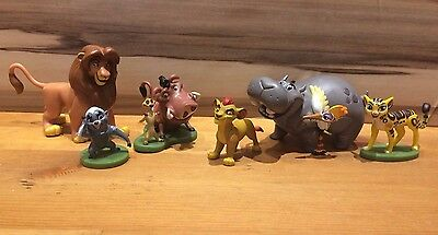 Disney Store The Lion Guard 6 Figure Figurine Toy Playset