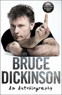 BRUCE DICKINSON What Does This Button Do? SIGNED and PERSONALIZED Iron Maiden