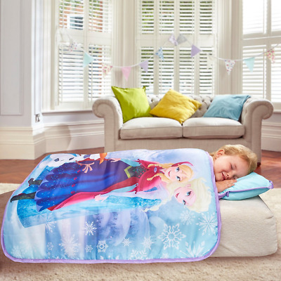 DISNEY FROZEN washable COSY WRAP NAP BED CHILDRENS BEDDING ALL IN ONE READY BED