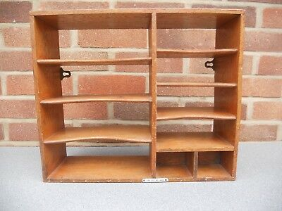 Pidgeon Hole Shelf For Stationery- Office - Antique/vintage