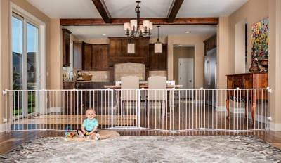 Regalo 192-Inch Super Wide Gate and Play Yard White Puppy Dog Cat Animal Baby