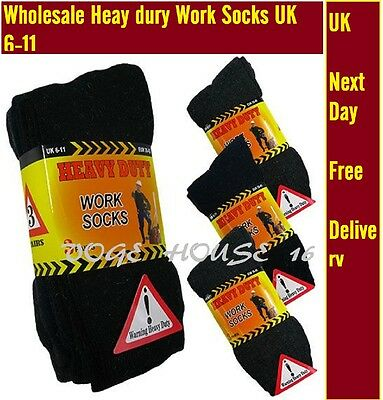 120 Men's Gents Dress Formal Casual HEAVY DUTY WORK BOOT Socks Wholesale Job Lot