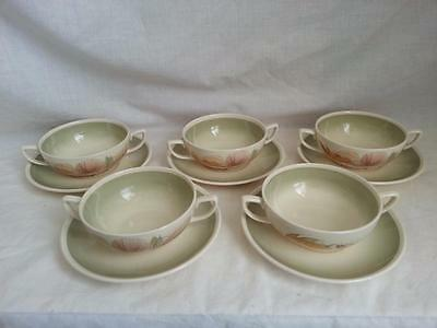 Susie Cooper Sea Anemone  5 x Soup Coup and Saucer