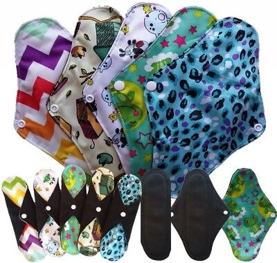 5x Cloth Sanitary Pads Menstrual Panty Liner Bamboo Leak-proof Washable Reusable