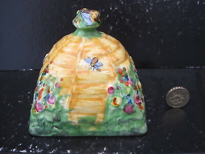 Very Rare Vintage Grimwades Royal Winton Beehive Honey Butter Dish Cover