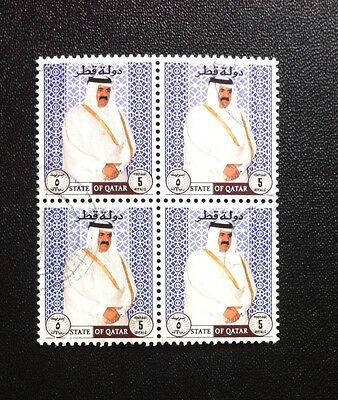 Qatar 1996 Shaikh Hamad 5r, Shaikh facing opposite direction Used Block of X4!!