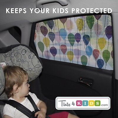 BALLOONS Car Window Sun Shade Tint for Kids-UV Heat Glare Protection. Baby Gift