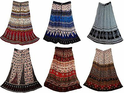 50 pc Rayon Hippy Skirt Indian Retro Peasant Boho Falda Gypsy Vintage Look