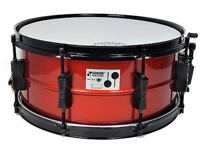 """Sonor Panther Snare 14""""x6,5"""" Metal High Gloss Wine Red  PAD14"""