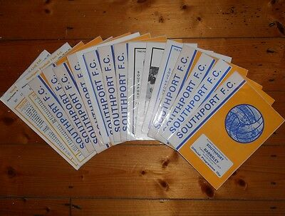1975-78 SOUTHPORT HOME FOOTBALL PROGRAMMES - Your choice - FREE Postage