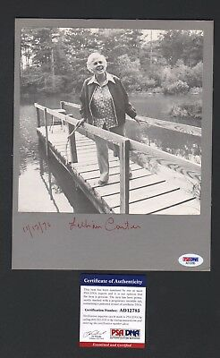 1970s Lillian Carter President Jimmy Mother Signed Photo Mounted on Board PSA