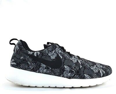 cafb99bb332e NIKE ROSHE RUN PRINT FLORAL PREMIUM Sz 11 Cool Grey Black White Wolf 655206  010