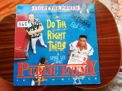 Maxi 12'' Public Enemy - Fight The Power - Motown Spain 1989 Vg+