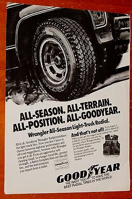 1983 Goodyear Truck Tires Ad With 1975 1976 1977 Chevy Gmc Pickup 1978 1979