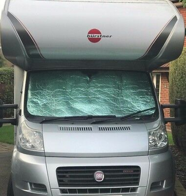 Motorhome Thermal Silver Screen Camper Van Fiat Ducato Peugeot Boxer Black Out