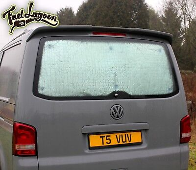 VW T5 Thermal Tailgate Screen Black Out Blind Window Curtain Deluxe Silver