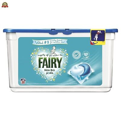 Fairy Non Bio Pods Sensitive Skin Washing Capsules - Pack of 3 (114 Washes)