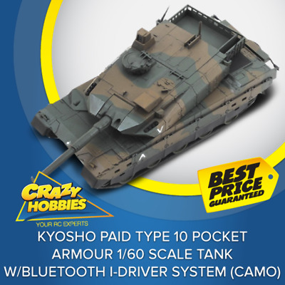 Kyosho PAID Type 10 Pocket Armour 1/60 Scale Tank w/Bluetooth i-DRIVER System (C