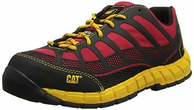 Caterpillar STREAMLINE CT Mens Black Red Yellow Comp Toe Oxford Work Shoes