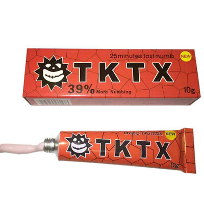 TKTX 39% Stronger RED Numbing Tattoo Body Anesthetic Fast Skin Numb Cream UK