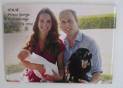 Prince William & Catherine with Baby Prince George and Lupo Magnet