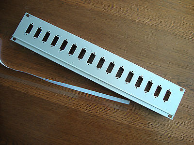 "2U 19"" 19 inch RACK PATCH PANEL with 16 15-way Sub-D RACK MOUNT Aluminium Ali"
