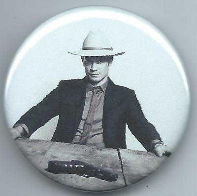 """JUSTIFIED- 2-1/4"""" BUTTON- TIMOTHY OLYPHANT as RAYLAN GIVENS- PHOTO"""