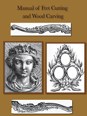 Guide Learn How To Carve Wood Carving Fretwork Tools Vtg Book Skill Manual on CD