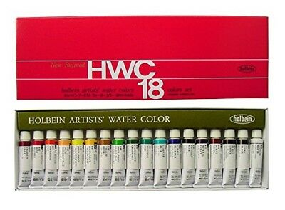 Holbein Artists Transparent Watercolor W403 18 Colors Set 5ml Tubes