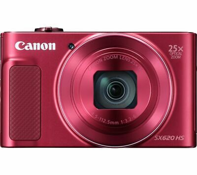 CANON PowerShot SX620 HS Superzoom Compact Camera - Red - Currys