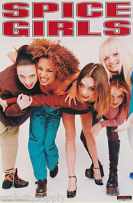 Lot Of 2 Posters :music : Spice Girls - All 5 Posed -  Free Ship #bg0004  Lc16 K
