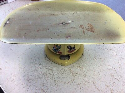 Vintage 1953 Counselor Yellow Baby Scale