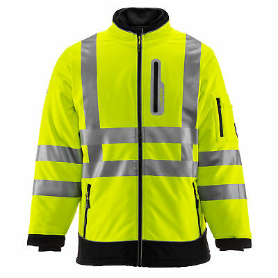 RefrigiWear HiVis Extreme Softshell Jacket with High Visibility Reflective Tape