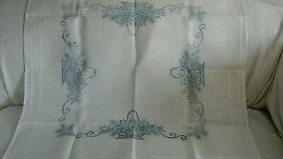 Vintage Christmas Tablecloth.with printed design, ready to embroider.