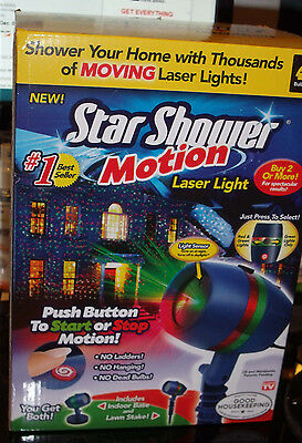 Star Shower Motion AS SEEN ON TV Laser Projector Christmas Lights Decor - NEW!,,