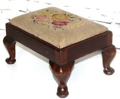 Antique Victorian Mahogany Footstool - FREE Shipping [PL3924]