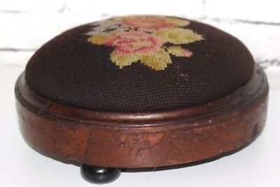 Antique Victorian Mahogany Footstool - FREE Shipping [PL3925]