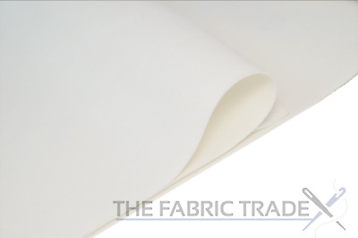 White Craft Felt Fabric Material - 100% Acrylic - 2mm Thick - 150cm Wide