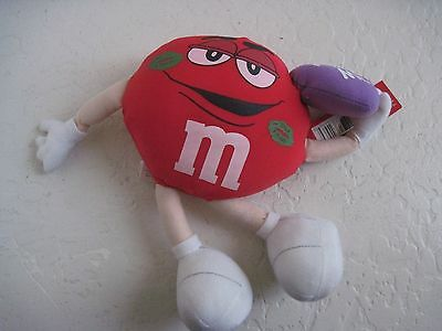 "Galerie RED M&M KISS ME 9"" Plush Toy NWT"