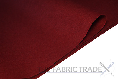 Wine Red Craft Felt Fabric Material 100% Acrylic 2mm Thick 150cm Wide