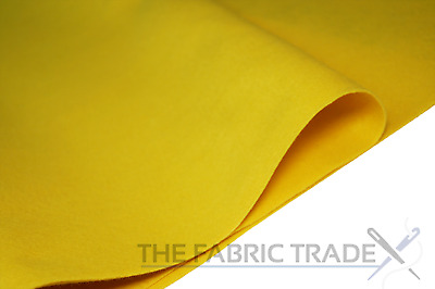 Yellow Craft Felt Fabric Material - 100% Acrylic - 2mm Thick - 150cm Wide
